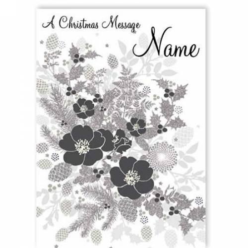 A Christmas Message Flower Card