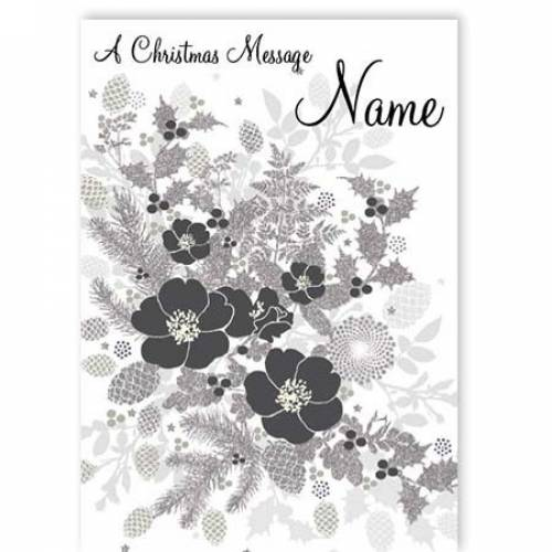 A Christmas Message Flower Card