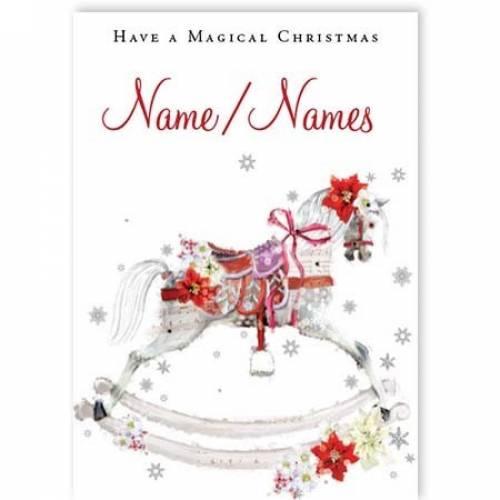 Christmas Rocking Horse Card