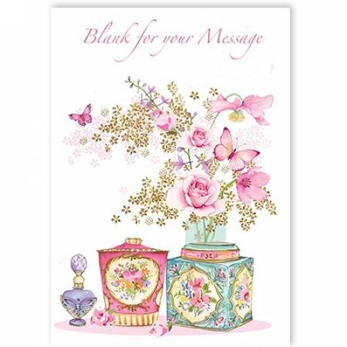 Flowers Personalised Blank Card