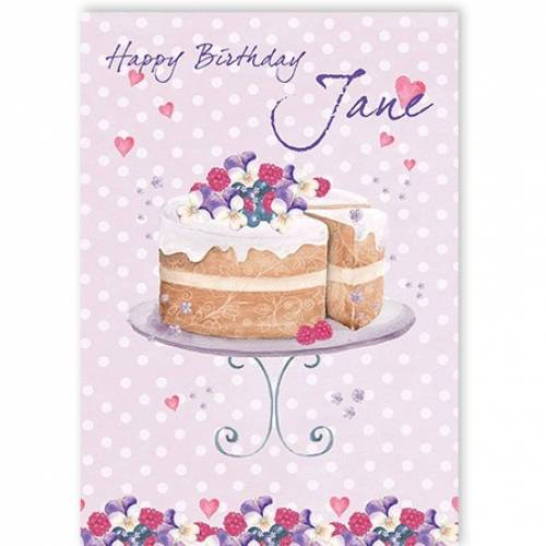Happy Birthday Cake Stand Card