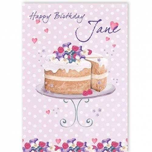 Happy Birthday Cake Stand Card