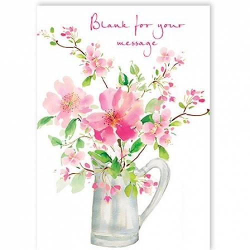 Jug Of Flowers Card