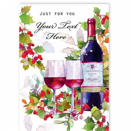 Just For You Wine For Two Card