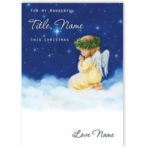 Little Angel On A Cloud Christmas Card Card
