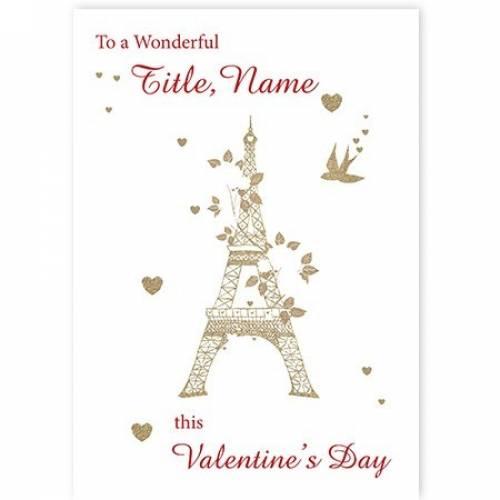 Eiffle Tower Valentine's Day Card
