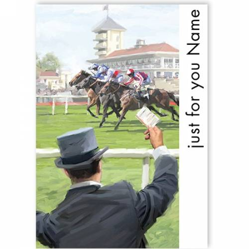 Horse Racing Just For You Card