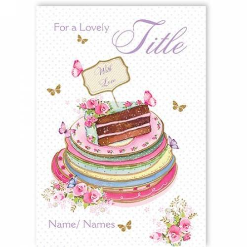 Cake Plates Birthday Card