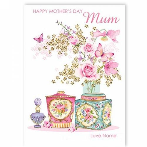 Perfume & Butterflies Mother's Day Card