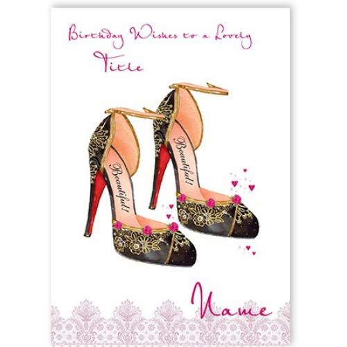 High Heels Birthday Card