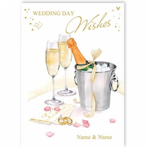 Wedding Day Champagne Card