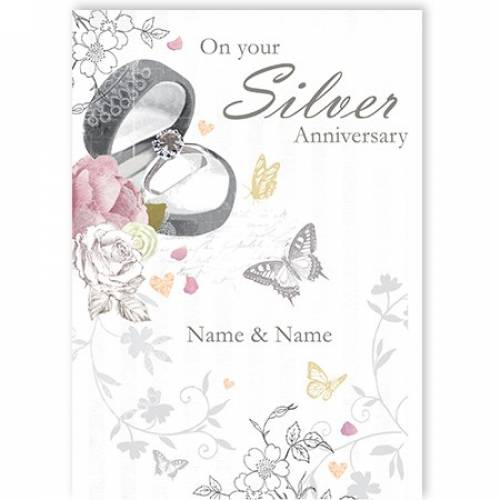 Engagement Ring Sister Anniversary Card