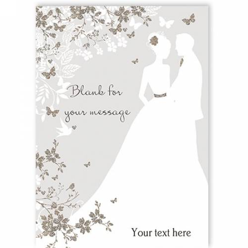 Couple Butterflys Blank Greeting Card