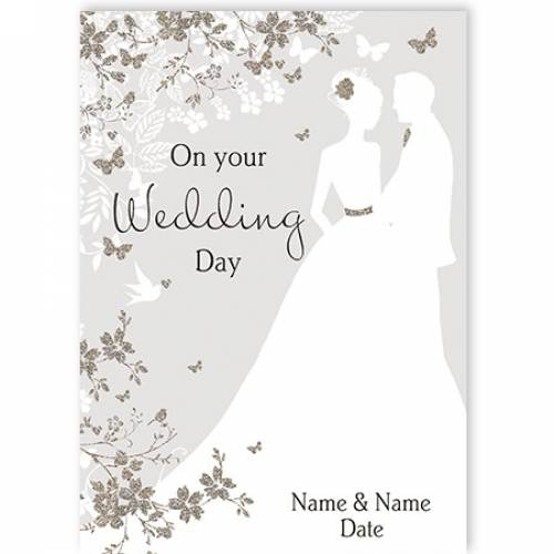 Couple Wedding Day Card