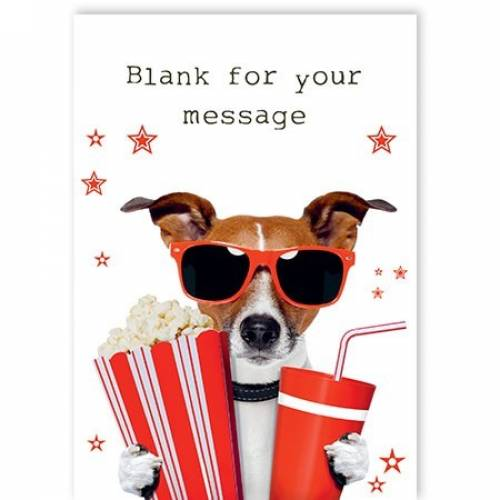 Drinks And Popcorn Dog Card