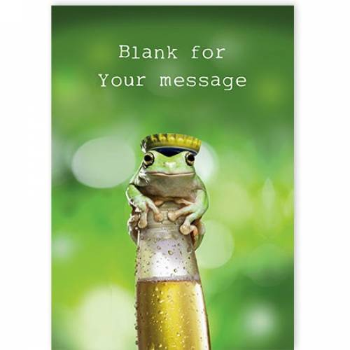 King Frog On A Beer Card