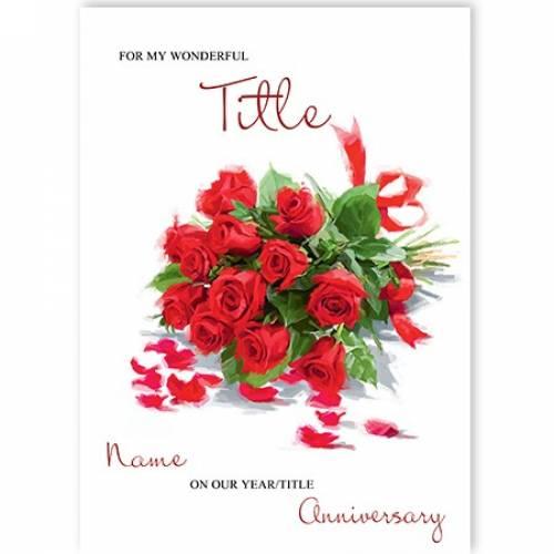 A Dozen Roses Anniversary Card