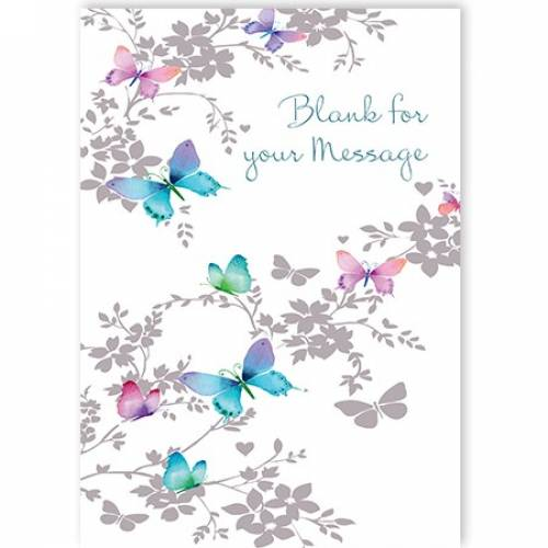 Butterfly On A Branch Card