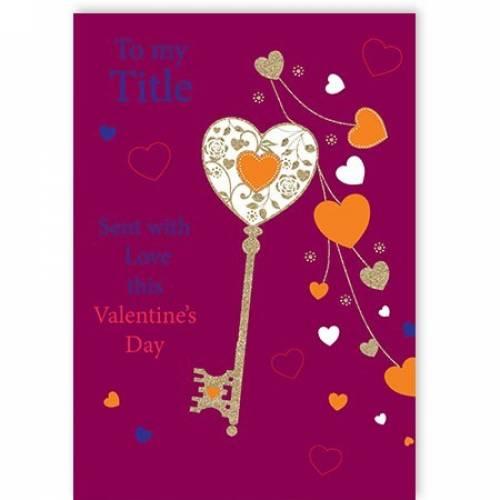 Valentine's Day Key To My Heart Card