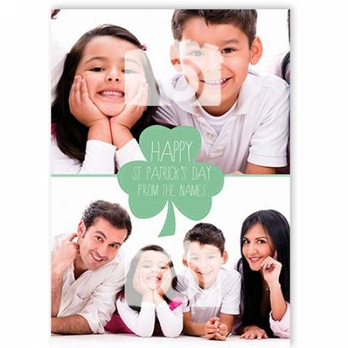 Two Photo Happy St Patricks Day Card