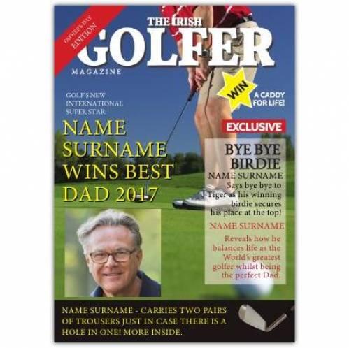Best Dad Irish Golfer Card