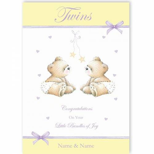 Twins - Bundles Of Joy Card