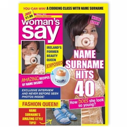 Magazine Cover - 40 Birthday Card