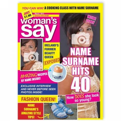 Magazine Cover - 40 Birthday Card