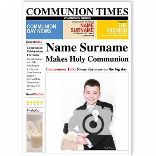 Communion Times Photo Upload News Card