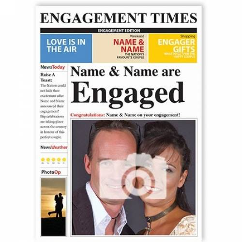 Engagement Times Photo Upload Card