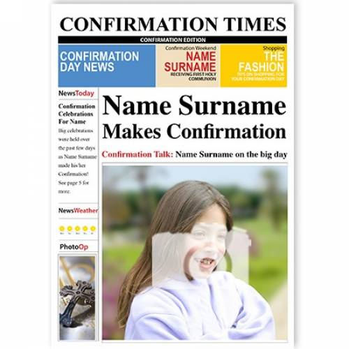 Confirmation Times Card