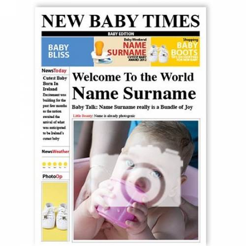 New Baby Times Card