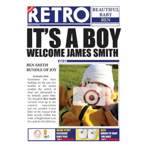 Retro Beautiful Baby Boy Card