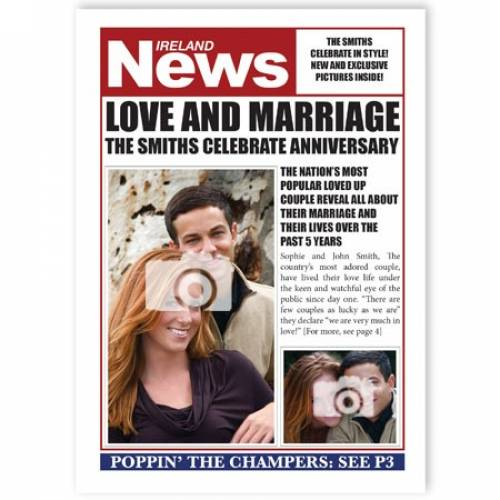 Ireland News Love And Marriage-anniversary Card
