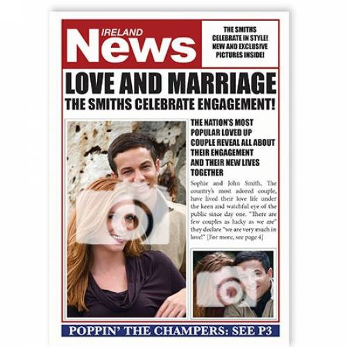 Ireland News - Engagement Card