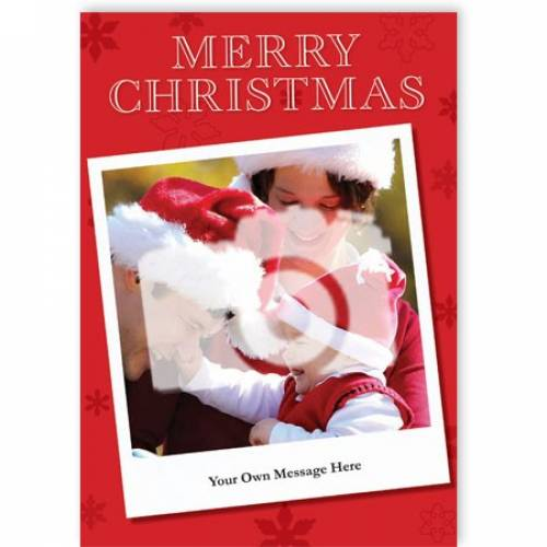 Merry Christmas Insert Photo Card