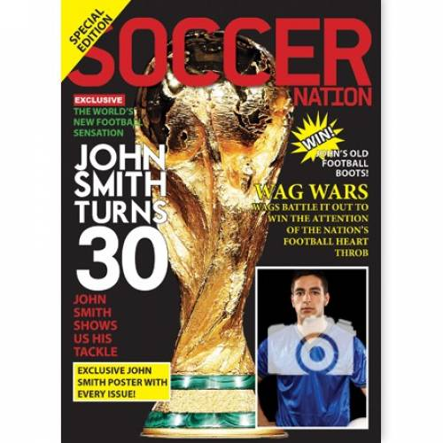Soccer Football Magazine 30th Happy Birthday Card