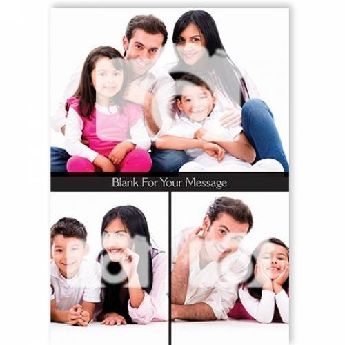 Photo Upload & Blank For Your Message Card