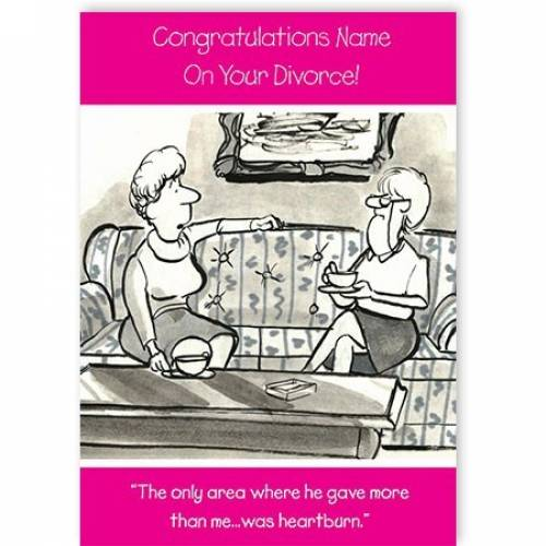 Congrats On Your Divorce Female Chatting On Couch Card