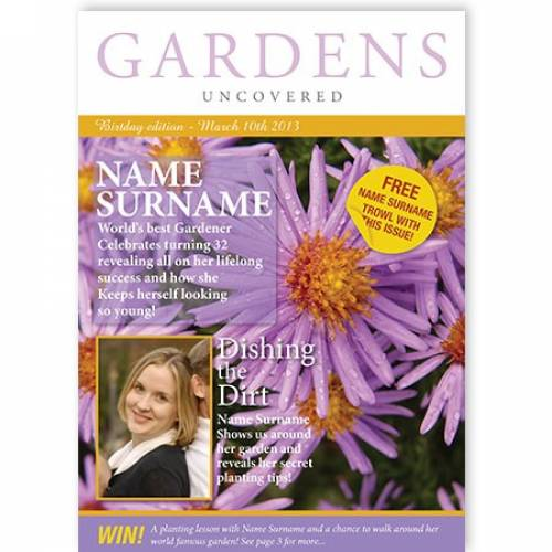Purple Flower World's Best Gardener Card
