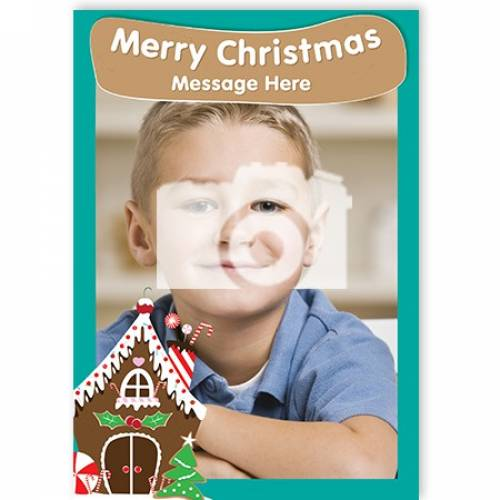Merry Christmas Ginger Bread House Card