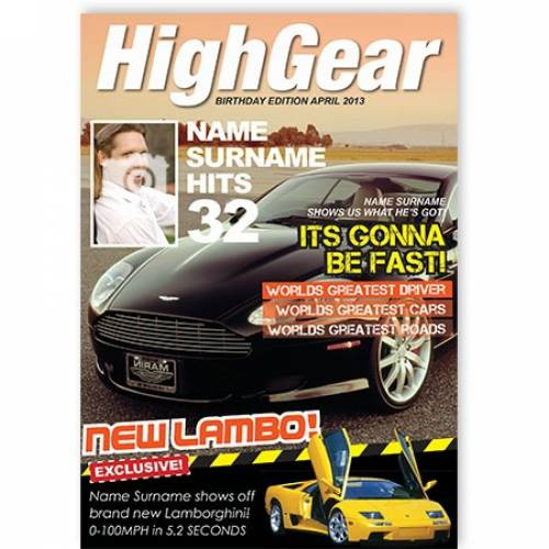 High Gear Birthday Edition Fast Cars Card
