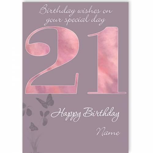 21st Happy Birthday Card