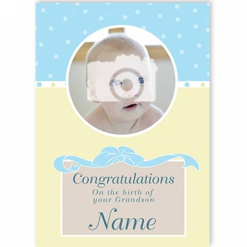 Photo Congratulations On The Birth Of Your Grandson Card