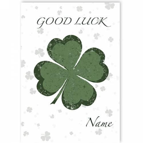 Clover Good Luck Card