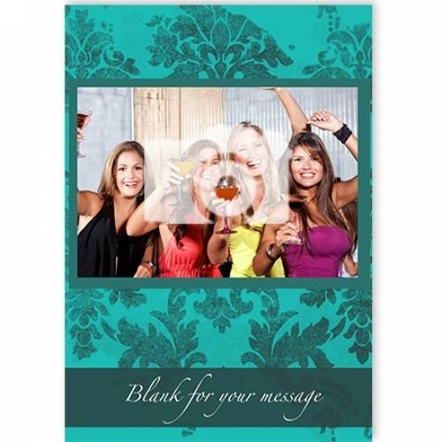 Green Photo Blank For Message Card