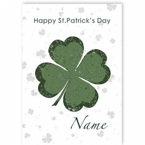 Clover Happy St Patrick's Day Card