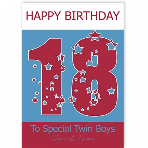 Special Twin Boys 18th Happy Birthday Card