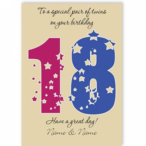 Special Pair Of Twins 18th Happy Birthday Card