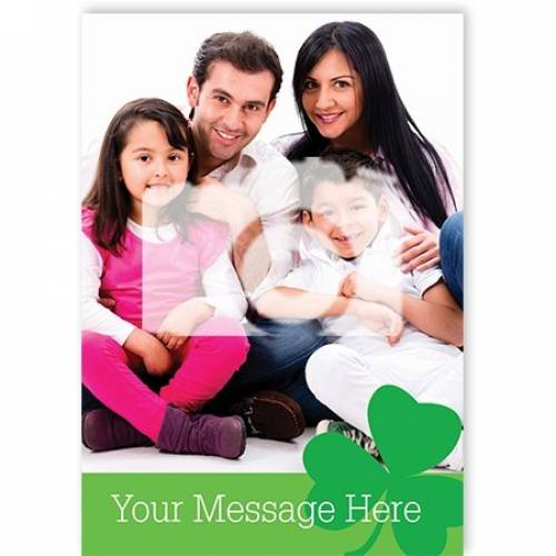 Blank Message Photo Shamrock St Patrick's Day Card
